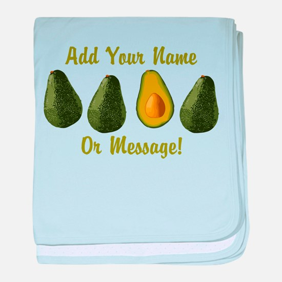 PERSONALIZED Avocados Graphic baby blanket