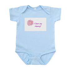 I LOVE MY NANNY Pink Infant Creeper