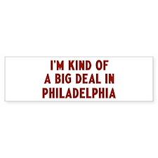 Big Deal in Philadelphia Bumper Sticker (10 pk)