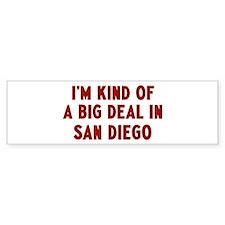 Big Deal in San Diego Bumper Sticker
