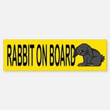 Rabbit on board Bumper Bumper Bumper Sticker