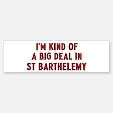 Big Deal in St Barthelemy Bumper Bumper Bumper Sticker