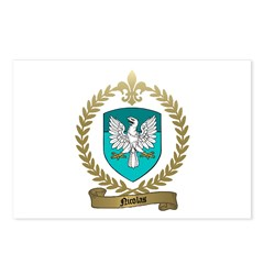 NICOLAS Family Crest Postcards (Package of 8)