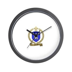 MOUTON Family Crest Wall Clock