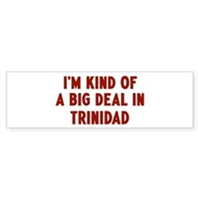 Big Deal in Trinidad Bumper Bumper Sticker