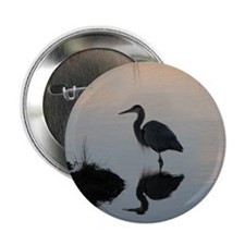 "Blue Heron Sunset 2.25"" Button"