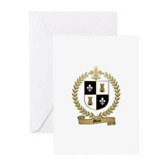 MIUS Family Crest Greeting Cards (Pk of 10)