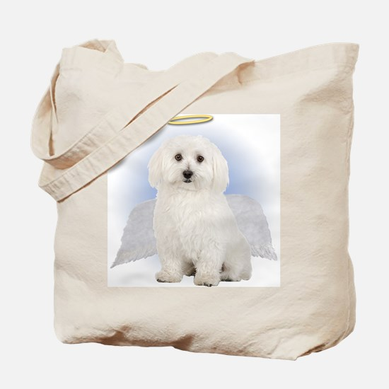 Angel Bichon Frise Tote Bag