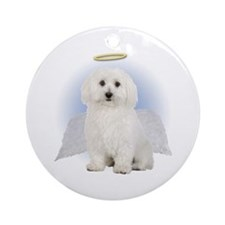Angel Bichon Frise Ornament (Round)