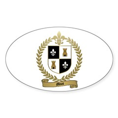 MIUS Family Crest Oval Decal