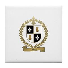 MIUS Family Crest Tile Coaster