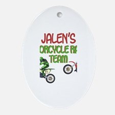 Jalen's Motorcycle Racing Oval Ornament
