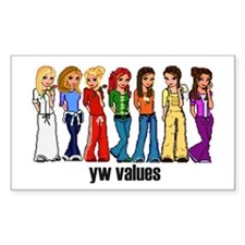YW Princesses Rectangle Decal