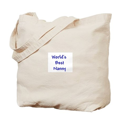 WORLD'S BEST NANNY Blue Tote Bag