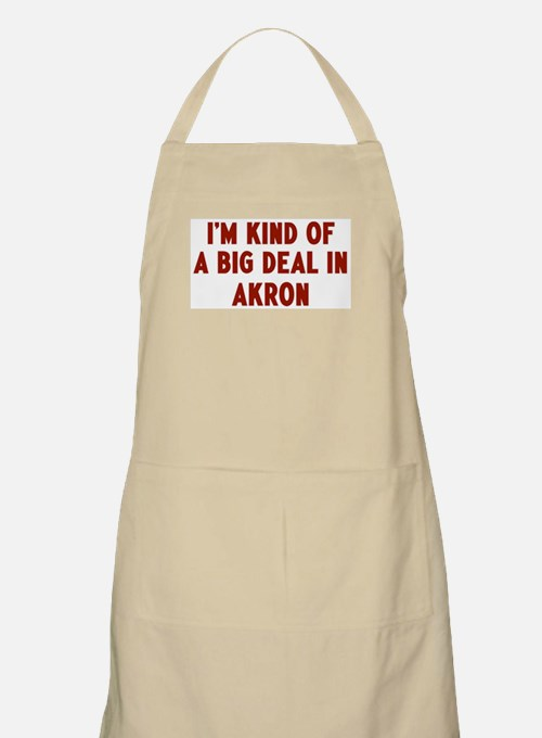 Big Deal in Akron BBQ Apron