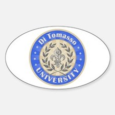 Di Tomasso Last Name University Oval Decal