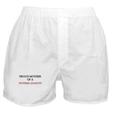 Proud Mother Of A SYSTEMS ANALYST Boxer Shorts