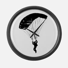 Cute Skydiving Large Wall Clock