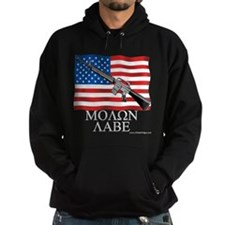 Molon Labe Dark Hooded Sweatshirt