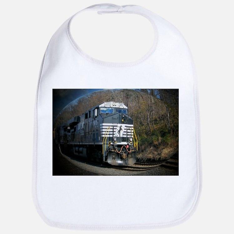 Cute Norfolk southern railroad Bib