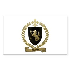 MIRANDE Family Crest Rectangle Decal