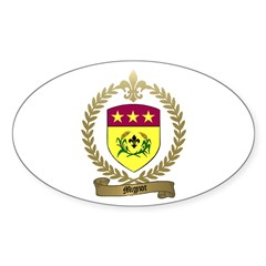 MIGNOT Family Crest Oval Decal