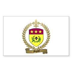 MIGNOT Family Crest Rectangle Decal