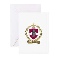 MIGNIER Family Crest Greeting Cards (Pk of 10)