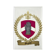 MIGNIER Family Crest Rectangle Magnet (10 pack)