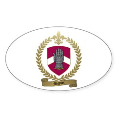 MIGNIER Family Crest Oval Decal