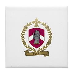 MIGNIER Family Crest Tile Coaster