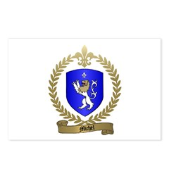 MICHEL Family Crest Postcards (Package of 8)