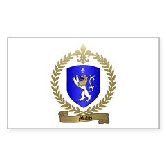 MICHEL Family Crest Rectangle Decal