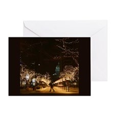 Denver Night LIghts Blank Greeting Card