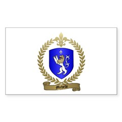 MICHELLE Family Crest Rectangle Decal