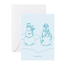 Snowman Carrot Envy Holiday Card (Pk of 10)