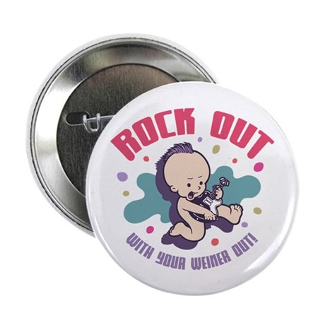 """Rock Out 2.25"""" Button (10 pack)"""