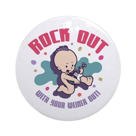 Rock Out Ornament (Round)