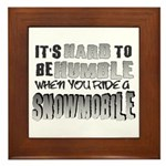 Hard to be Humble Framed Tile