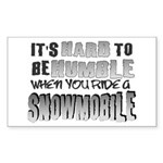 Hard to be Humble Rectangle Sticker