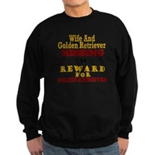 Wife & Golden Retriever Missing Sweatshirt
