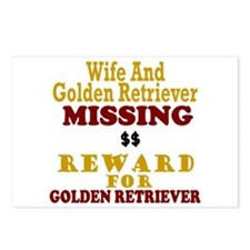 Wife & Golden Retriever Missing Postcards (Package
