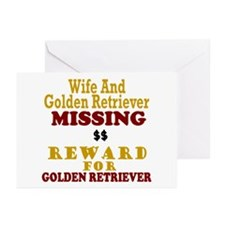 Wife & Golden Retriever Missing Greeting Cards (Pk