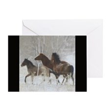 Winter Horse Play Greeting Card