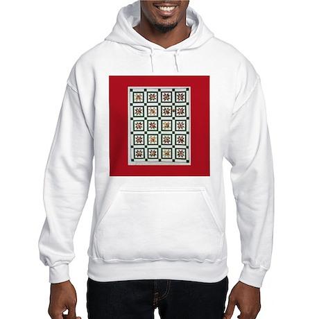 Christmas Quilt Hooded Sweatshirt