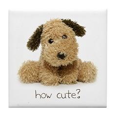 Doggone Cute Tile Coaster