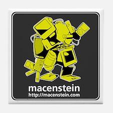 Macenstein - yellow logo Tile Coaster