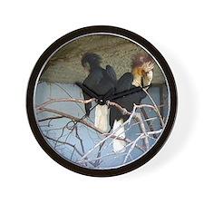 wreathed hornbills Wall Clock