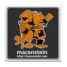 Macenstein - orange logo Tile Coaster