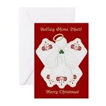 Irish Lace Angel Christmas Cards (10)